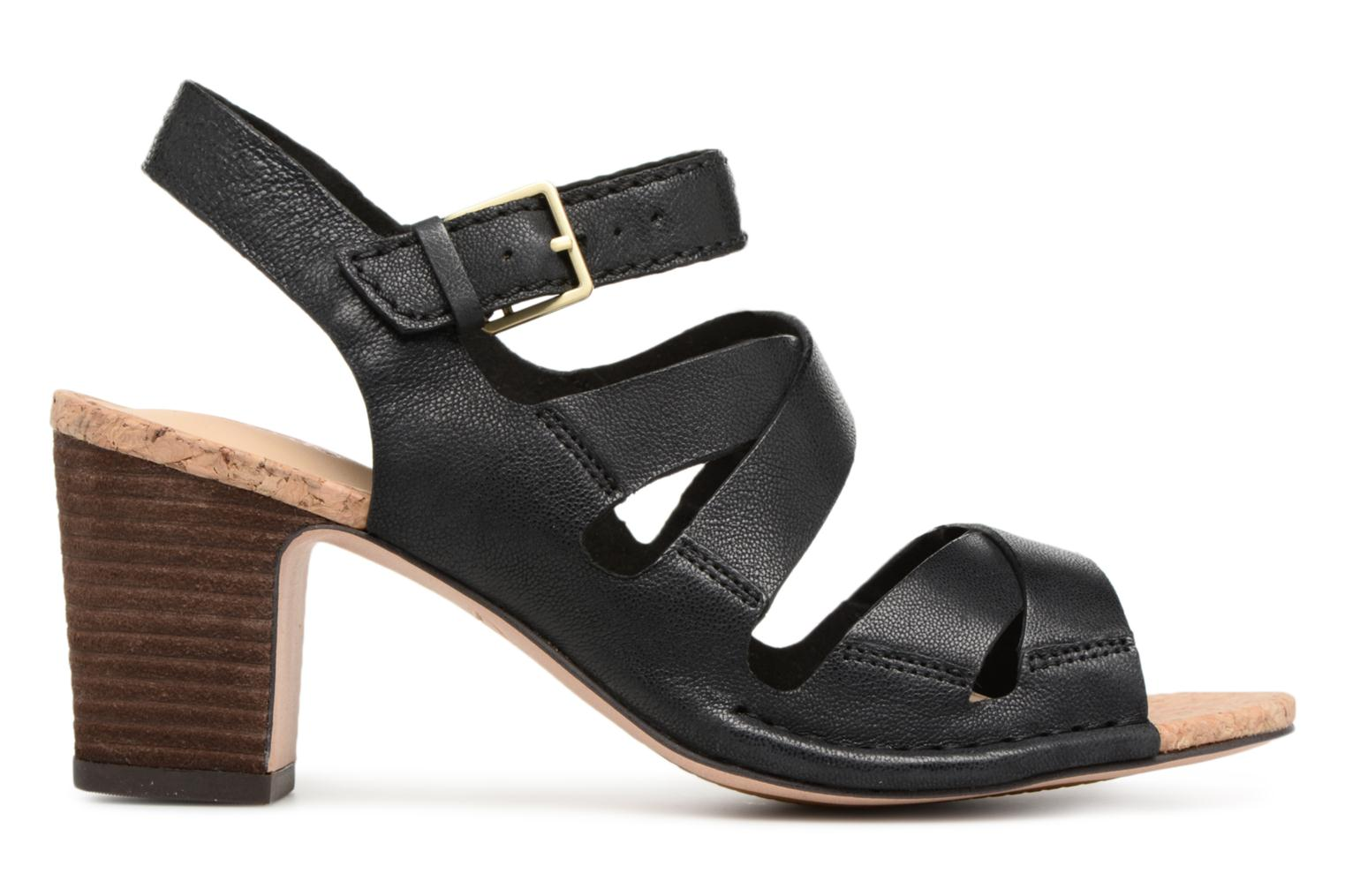 Sandals Clarks Spiced Ava Black back view